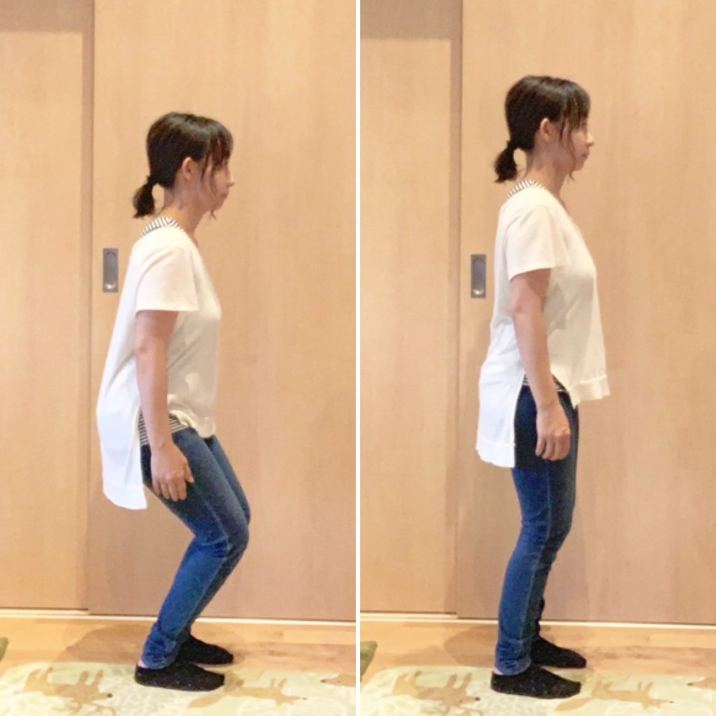 立つ姿勢の整え方
